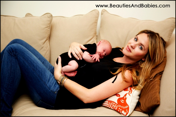 family photography of Los Angeles newborn baby