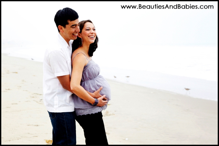 Los Angeles pregnancy beach portrait photographer