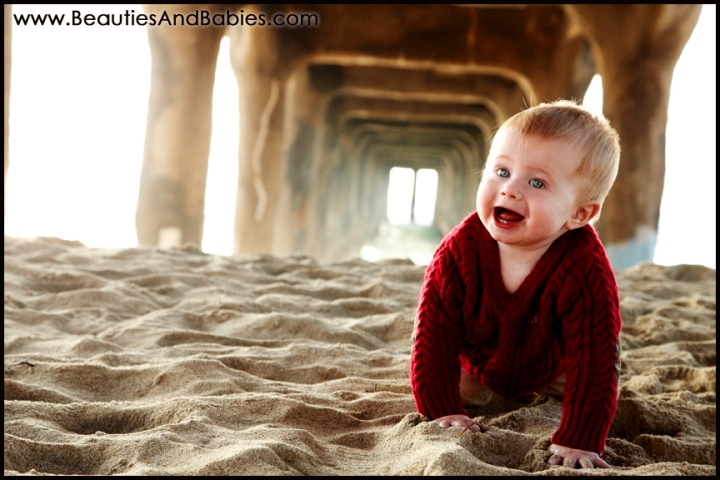 baby photography Los Angeles Beach portrait