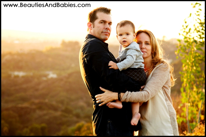 family portrait photography at sunset Los Angeles