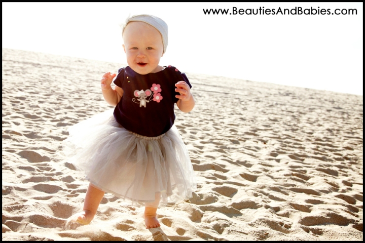 child photographer Los Angeles baby beach
