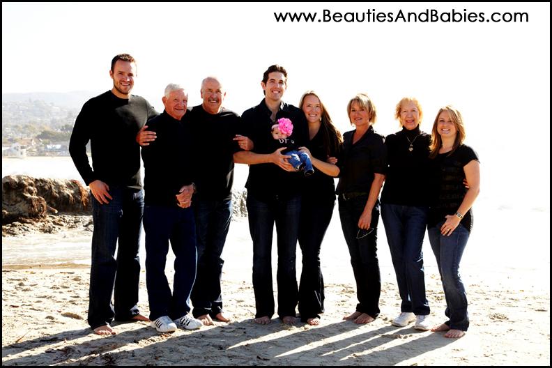 large family photographs on the beach Los Angeles photographer