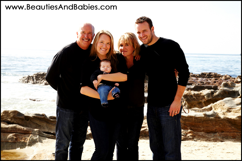 family portrait on the beach Los Angeles photography