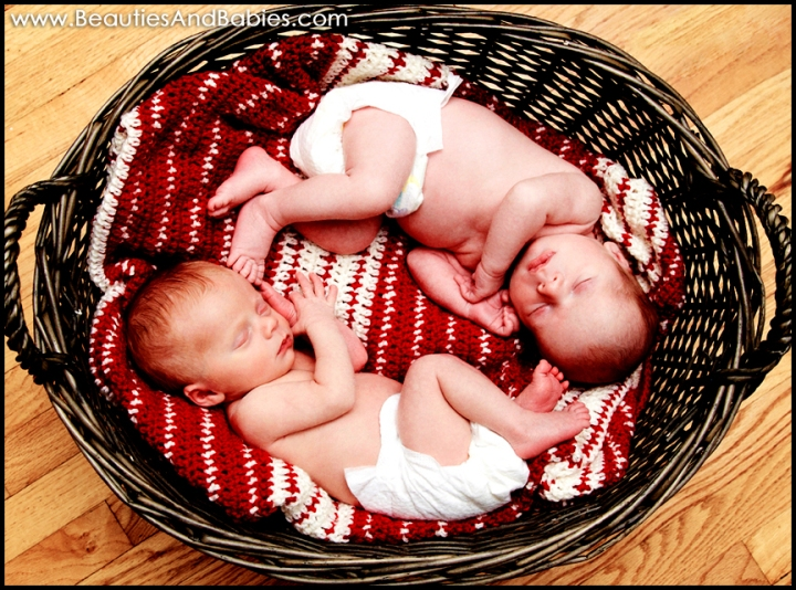 newborn twins professional photography Los Angeles