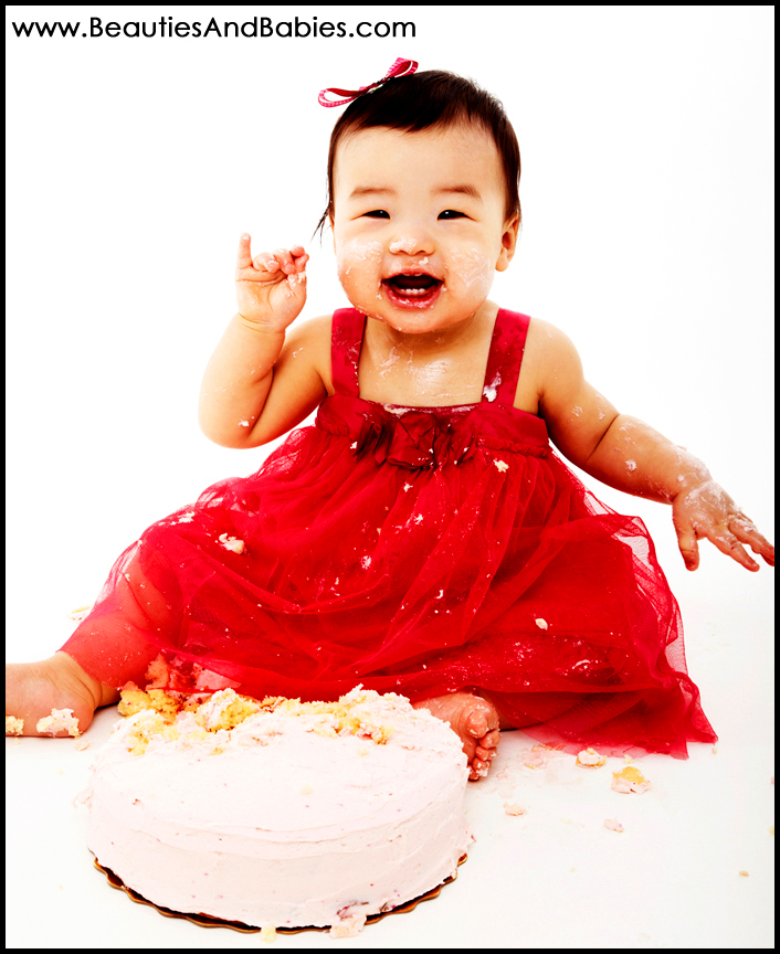 baby cake smash photography Los Angeles photographer