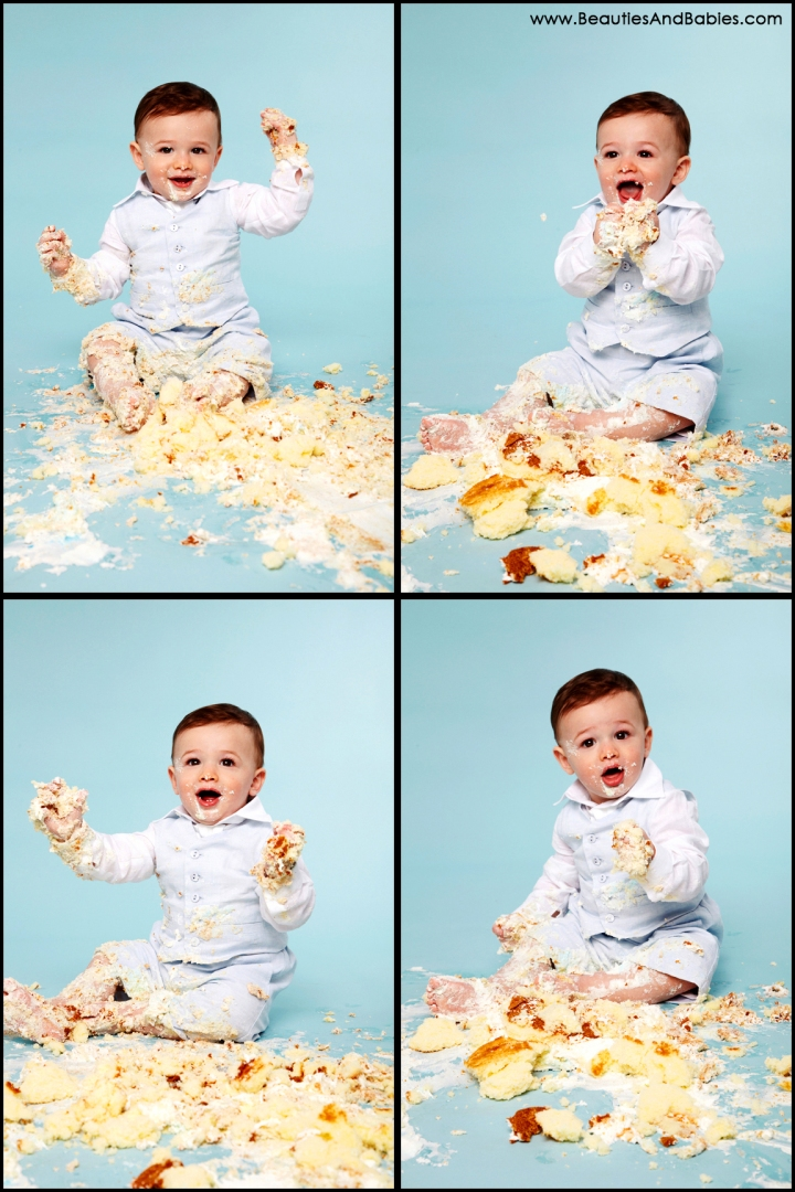 professional cake smash photography in studio Los Angeles