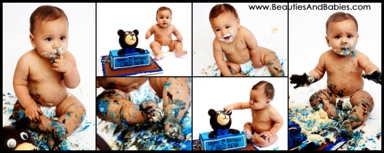 first birthday cake smash photography Los Angeles childrens photographer