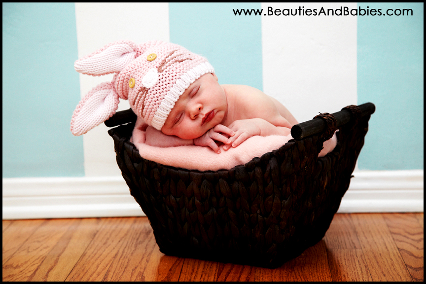 sleeping easter bunny newborn baby pictures