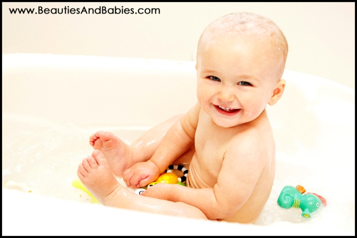 baby bath professional pictures Los Angeles photography