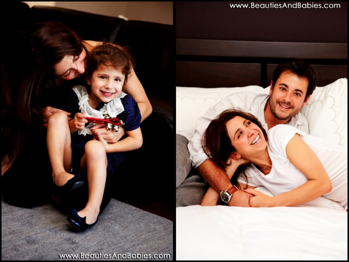 Los Angeles family portrait photography in home