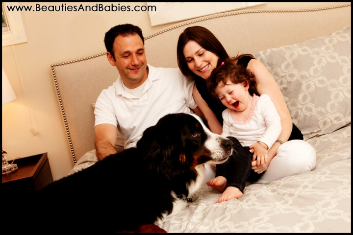 at home family portrait photography Los Angeles photographer