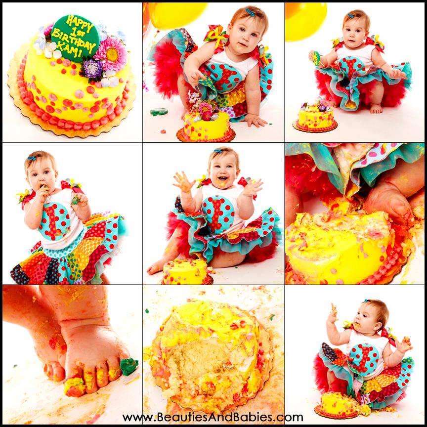 Birthday Girl Cake Smash Los Angeles Photography