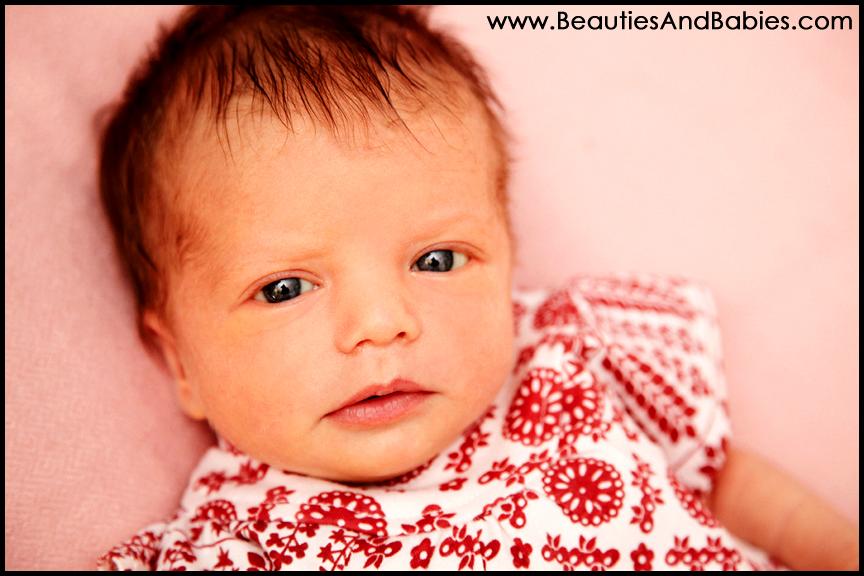 newborn baby girl awake photography Los Angeles