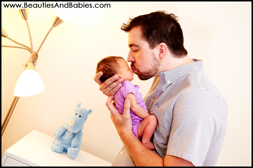 father daughter newborn photography Los Angeles