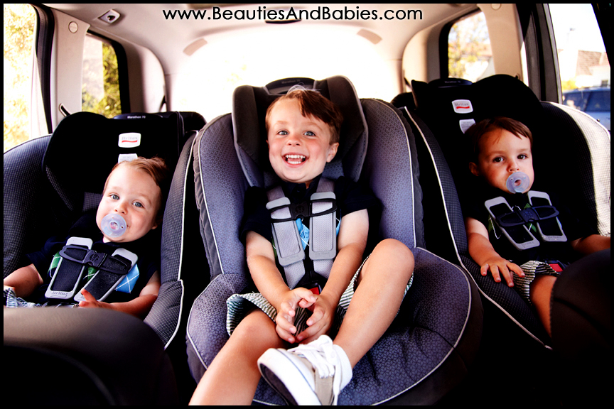 children in car seat professional kids photographer Los Angeles