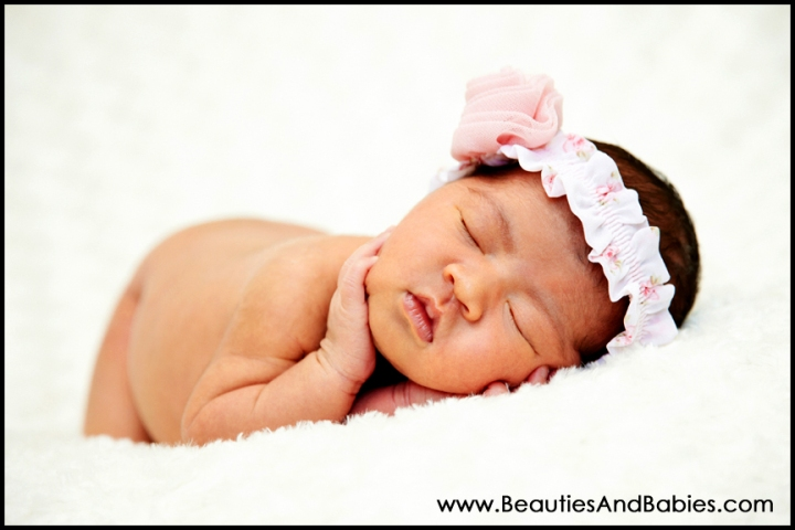 sleeping newborn baby girl professional photography Los Angeles