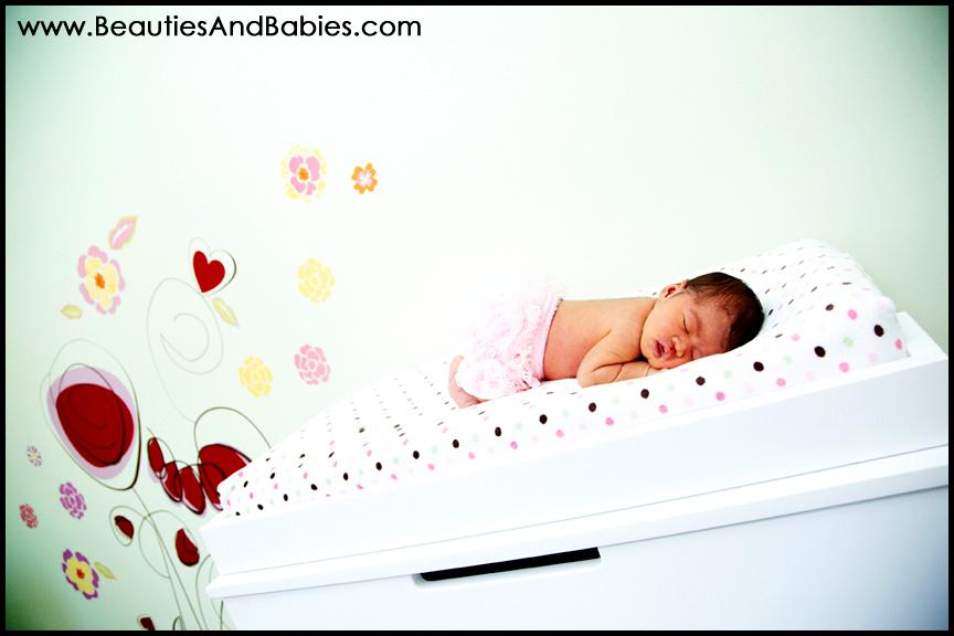 sleeping newborn baby girl professional photography Los Angeles