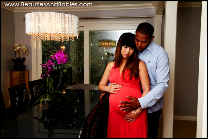 best Los Angeles pregnant couple photography