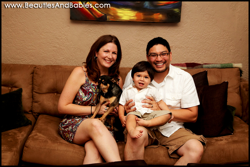 top family and baby portrait photography Los Angeles