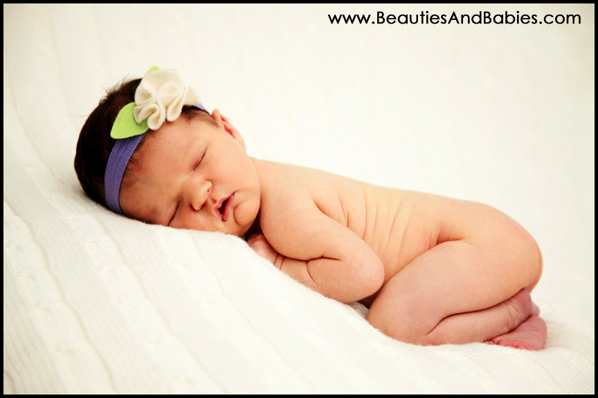 sleeping newborn baby girl professional photography