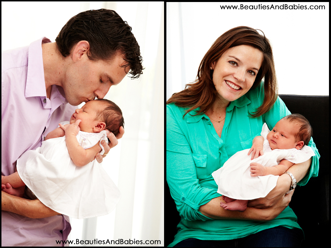 Los Angeles family portrait photography with newborn baby