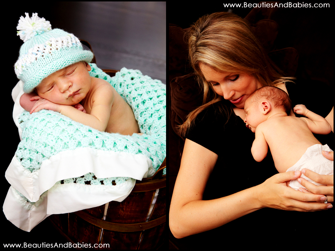 mother son professional newborn photography Los Angeles photographer