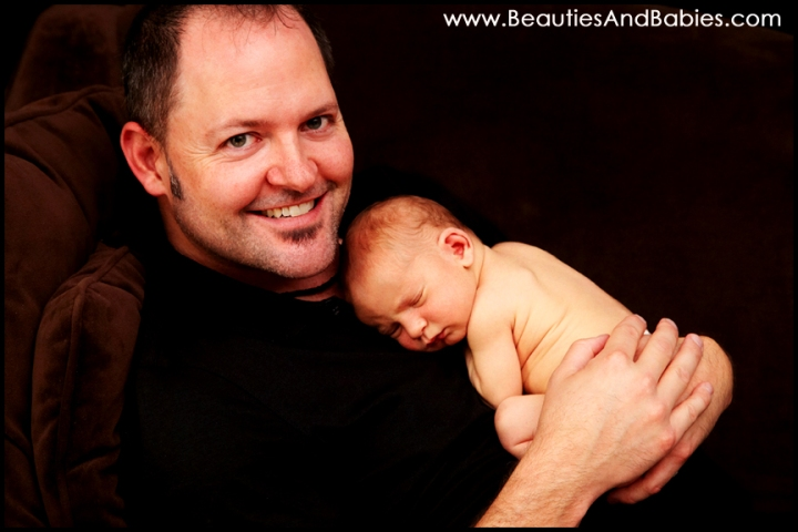 father son professional newborn baby photography Los Angeles