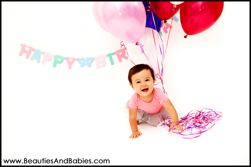 creative first birthday studio photography Los Angeles