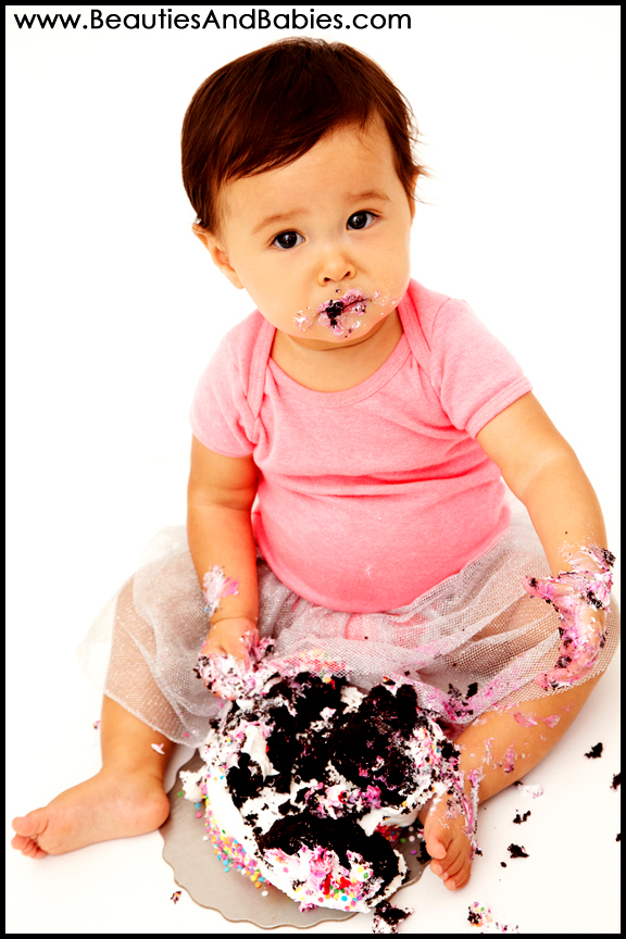 1st birthday cake smash photography Los Angeles