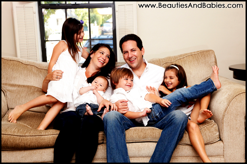 top los angeles at home family photography