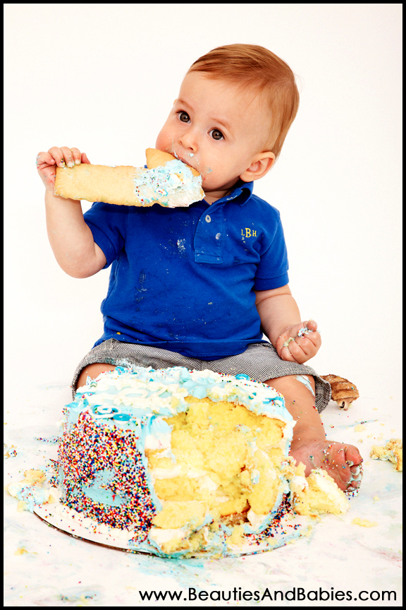 birthday boy eating birthday cake professional photography