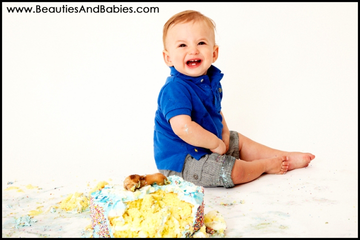 birthday boy eating cake professional childrens photographer