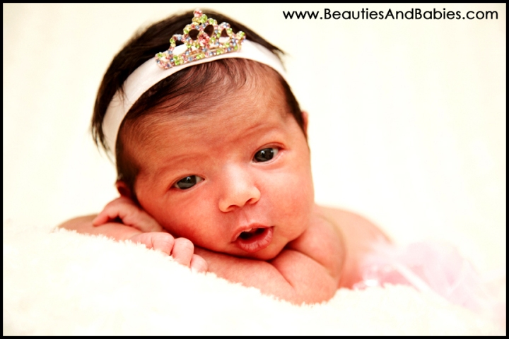 newborn baby princess professional photography Los Angeles