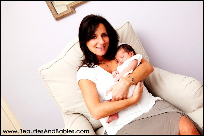 newborn baby girl and mother professional photographs
