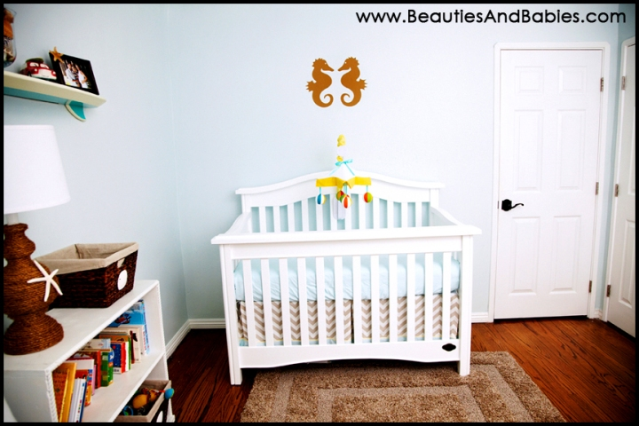 beach baby room Los Angeles nursery decor