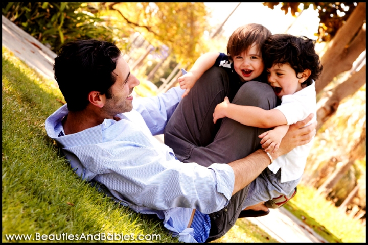 father and sons professional family photography Los Angeles