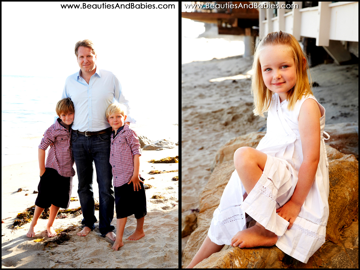 father and children professional pictures Los Angeles