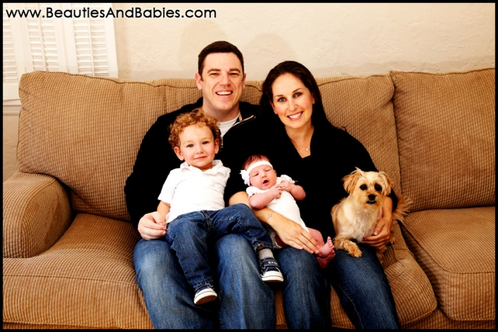 professional family portrait photography at home Los Angeles photographer
