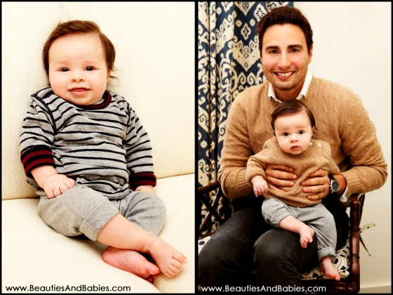 father son professional baby pictures Los Angeles