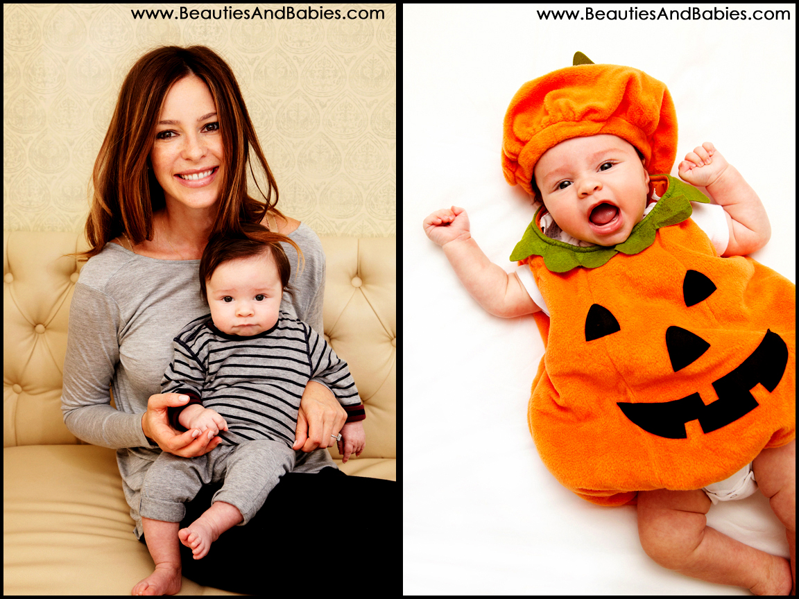 little pumpkin halloween costume professional baby photography