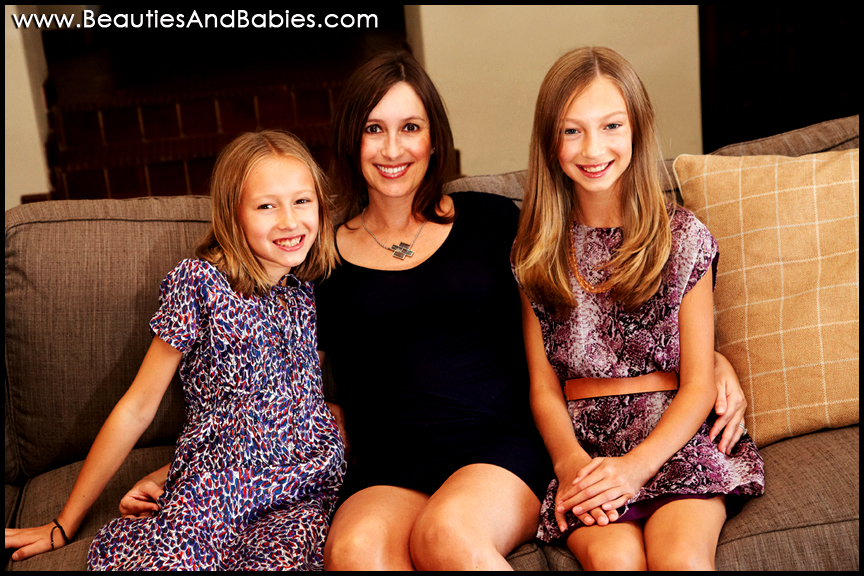 best los angeles family photography at home