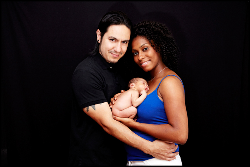 newborn baby professional pictures with mom and dad Los Angeles photographer