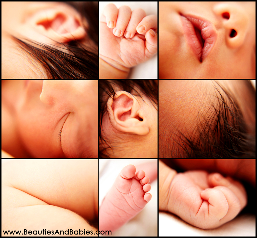 newborn baby body parts photography Los Angeles
