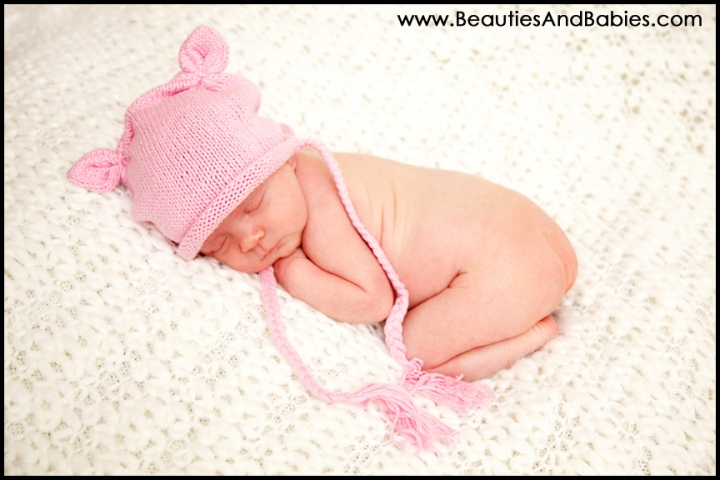 sleeping newborn baby girl professional pictures Los Angeles photographer