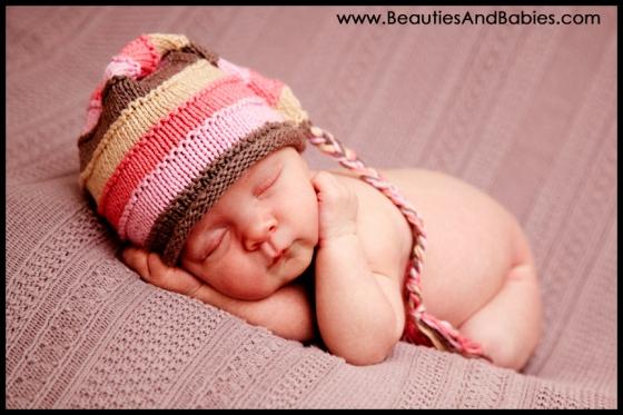 newborn baby girl professional photography studio Los Angeles