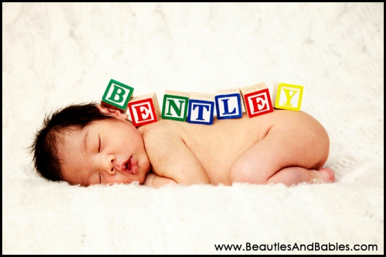 baby blocks professional newborn pictures Los Angeles photography