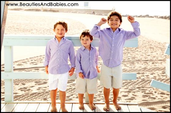 three boys lifestyle beach photography professional brothers photographer