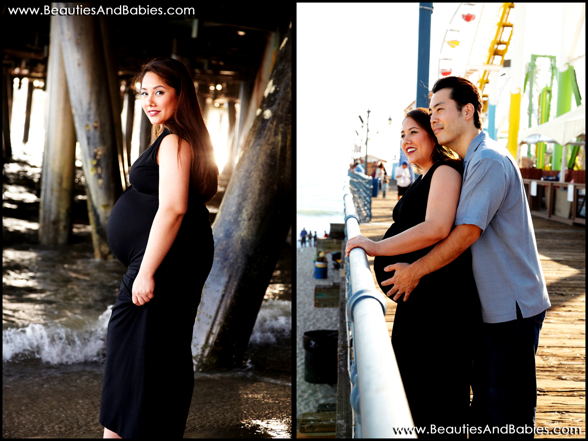 maternity photography at the beach Los Angeles professional photographer