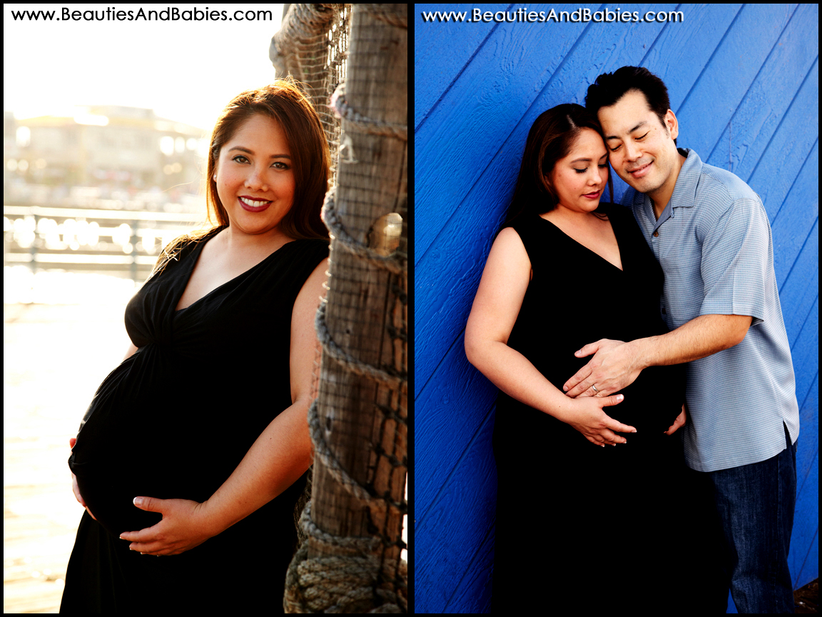 Los Angeles professional maternity photography at the beach