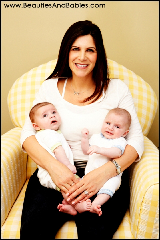 mother and twin babies professional pictures Los Angeles photographer